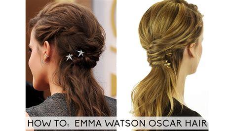 Emma Watson Hair Oscar Tutorial Youtube