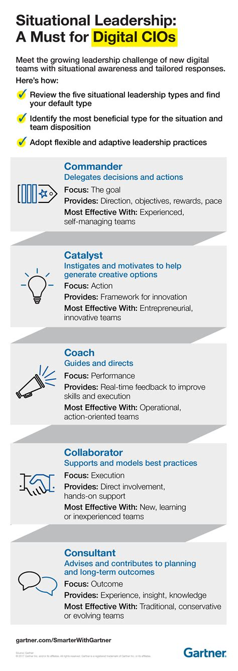 leadership styles  digital business infographic