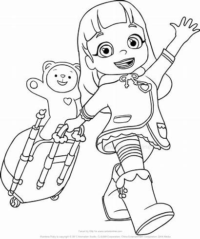Ruby Rainbow Coloring Pages Choco Drawing Template