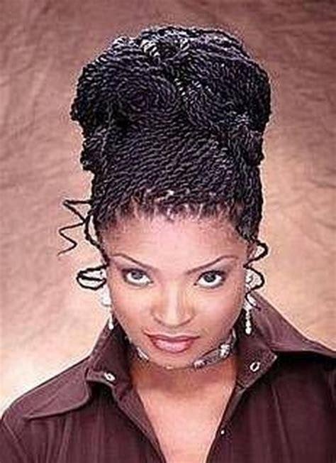 Twists Updo Hairstyles Americans twist braid hairstyles