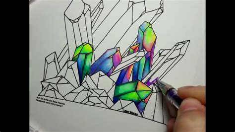 coloring crystals  gel pens time lapse youtube