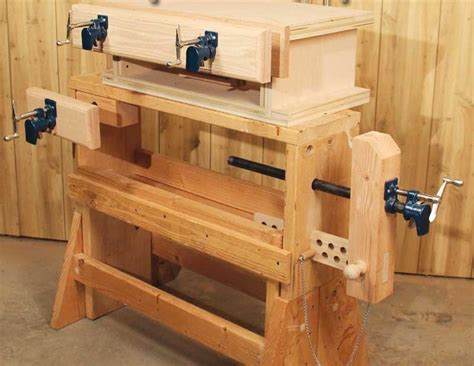wood workbench clamps woodwork sample