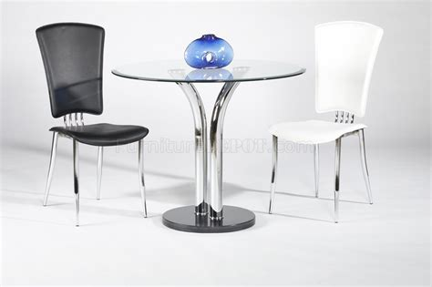 t 311 glass top dining table 2 chairs 3pc set by chintaly