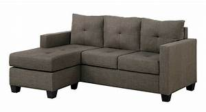 Microfiber sectional sofa with reversible chaise ottoman for Brown microfiber sectional sofa with chaise
