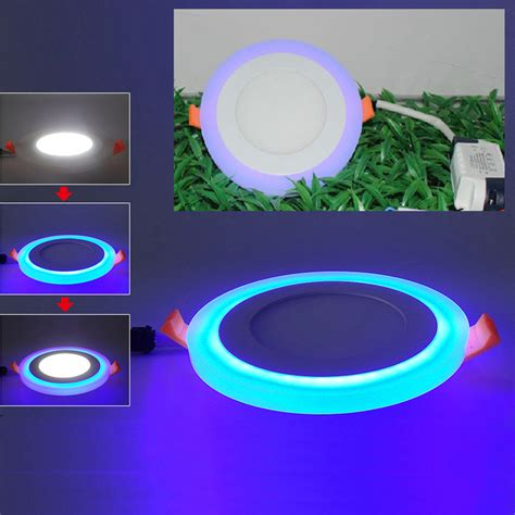dual color dual color led ceiling light recessed panel downlight spot