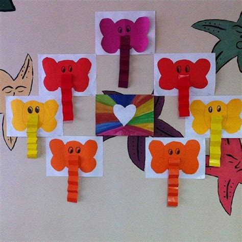 craft work for students elephant craft idea for 2 crafts and worksheets
