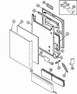 Door Diagram  U0026 Parts List For Model Mdb6100awb Maytag