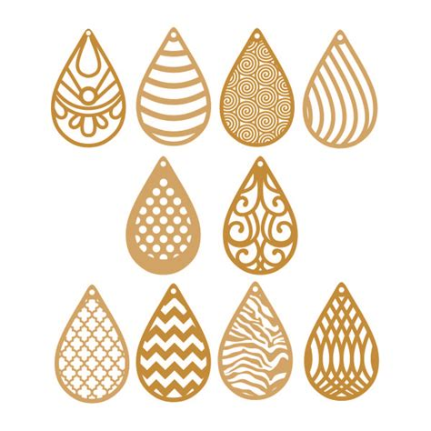 Hero patterns will always be updating and will always be free. Teardrop Patterns Earrings Cuttable Design