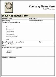 leave application form template free printable word With documents leaving job