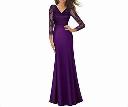 Purple Elegant Guest Maxi Evening Ladylike Deep