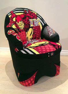 delta spiderman upholstered chair  superhero toddler