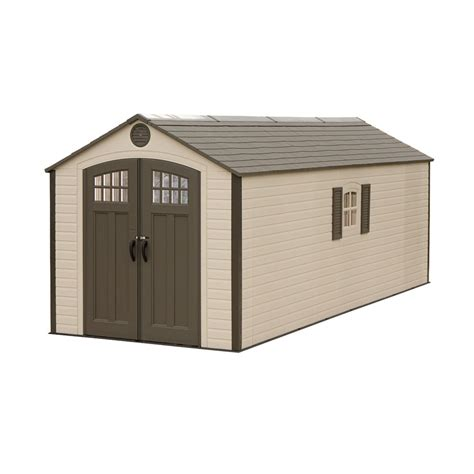 lifetime storage shed lifetime buildings 8x20 outdoor storage shed kit w 2
