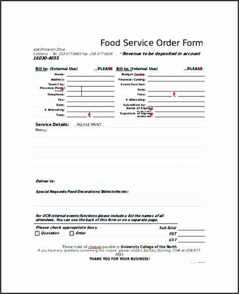 easy   sample order form template