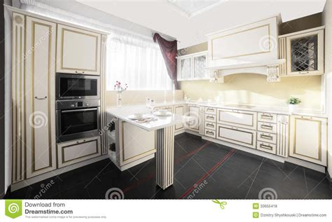 Brand New Modern Kitchen Royalty Free Stock Photos Image