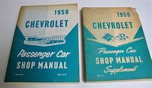1958 Chevrolet Passenge Car Shop Manual  1959 Supplement