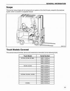 Caterpillar Cat Ec15k Ec18k Forklift Lift Trucks Service