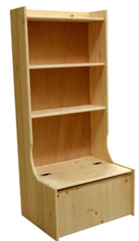 Toybox Bookshelf by Solid Wood Made Chest With Bookcase