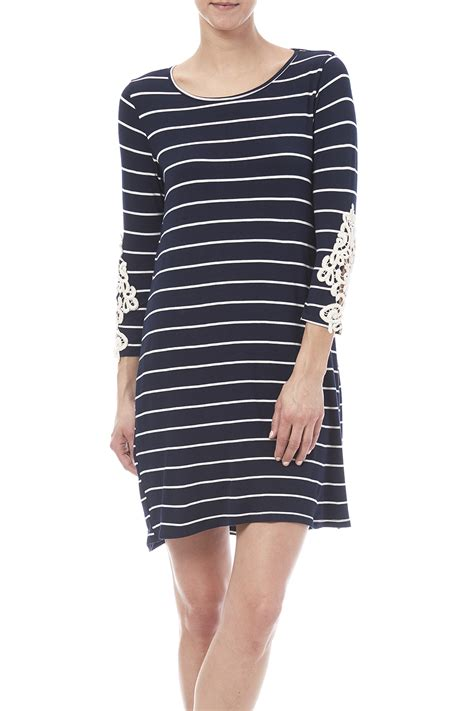 striped army look dress look navy striped dress from naples by petunias of