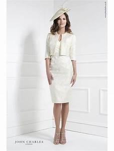 john charles 26040 short dress matching jacket with pearl With jacket to wear over dress to wedding