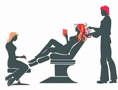 Salon Hair Beauty Vector Illustration Silhouette Nail