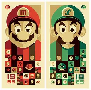 """StrongStuff: """"1985: 1up"""" and """"1985: 2up"""" posters"""