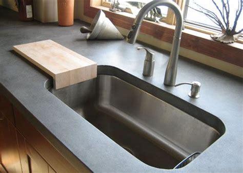 concrete countertop and sink best 25 concrete kitchen countertops ideas on