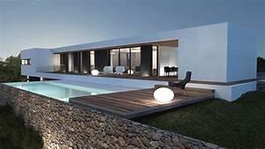 Villa Moderna Su Un Piano Case Moderne Tetto Piano