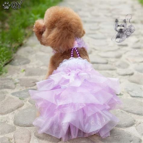 clothing  dogs pet puppy dog clothes cotton beading wedding dog dress xs xl ebay