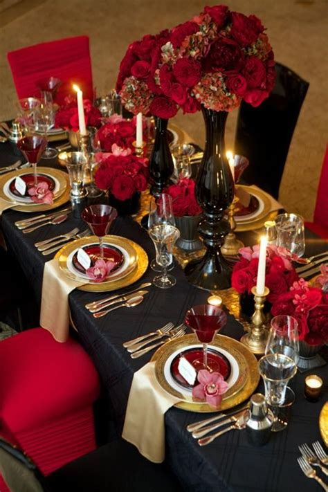 ideas  red gold weddings  pinterest red
