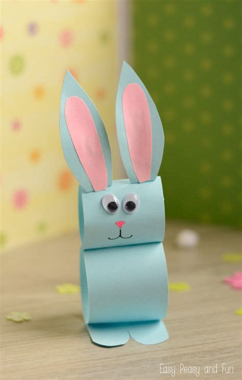 paper bunny craft easy easter craft  kids ilkbahar
