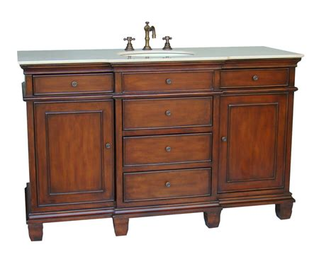 56 inch dunsmore vanity single sink vanity chestnut finish vanity