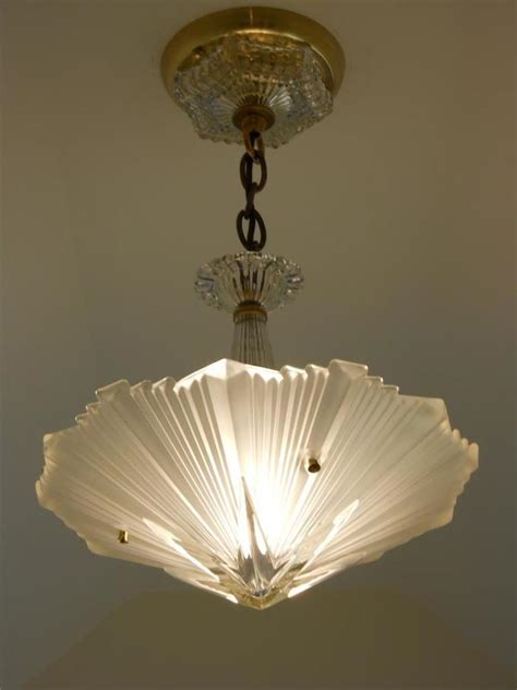c 30 s vintage deco ceiling light fixture chandelier