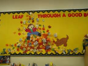 Fall Library Bulletin Board Ideas