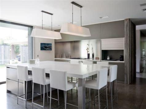 table de cuisine contemporaine trio bois verre et pour une cuisine avec îlot