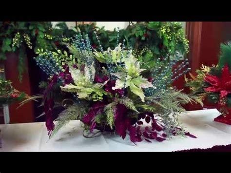 artificial christmas flower arrangements decorating
