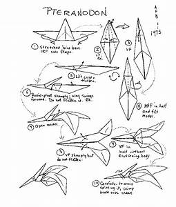 Origami Pterodactyl Instructions