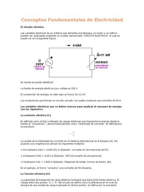 conceptos fundamentales de electricidad energia