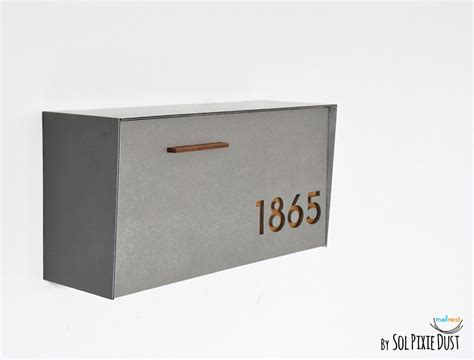 Modern Mailbox With Concrete Face,wall Mounted Mailbox