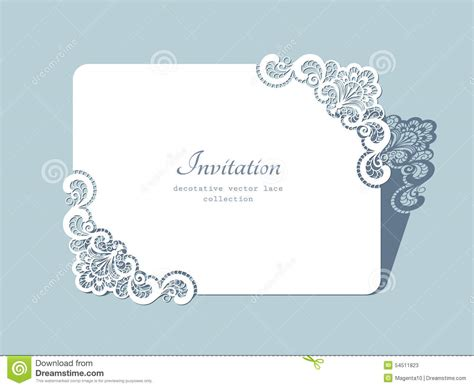 rectangle lace frame stock vector image