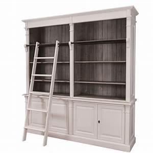La Maison Möbel : elegante gro e bibliothek dinan mit leiter im ~ Watch28wear.com Haus und Dekorationen