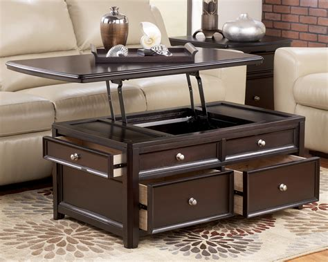living room table sets with storage modern lift top coffee table