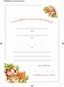 free printable wedding invitation templates download With wedding invitations to download and print