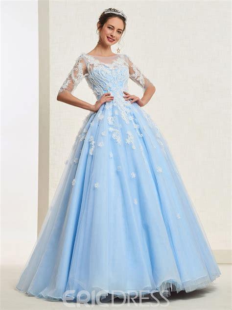ericdress appliques ball gown quinceanera dress