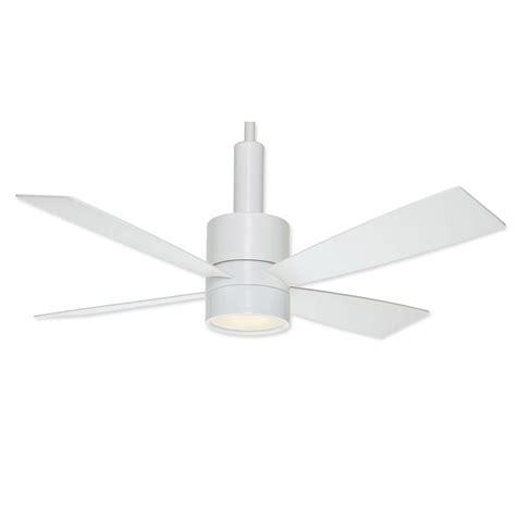 Modern White Ceiling Fans casablanca 59070 bullet ceiling fan snow white finish