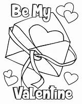 Valentine Coloring Card Print Printables Crafts Craft Preschool sketch template