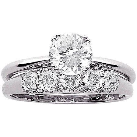 3 4 carat t g w cz wedding ring in sterling silver walmart com