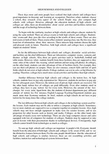 compare contrast art essay thesis