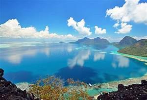 View, On, Top, Of, Bohey, Dulang, Island, Stock, Photo