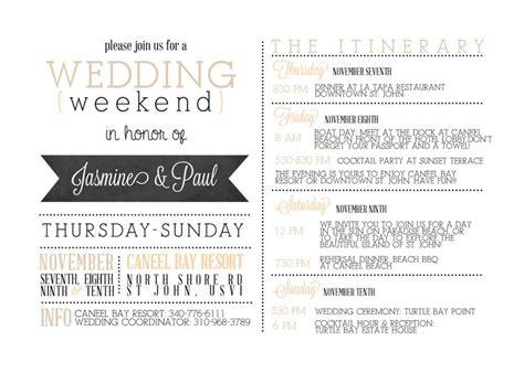custom wedding  cards wedding itinerary template