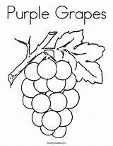 Coloring Purple Noodle Twisty Grapes Pages sketch template